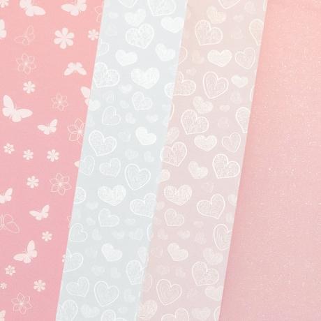 Disainpaber A4/200g 20L mix Pink pastel