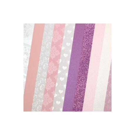 Disainpaber A4/210-250g 10L mix pink
