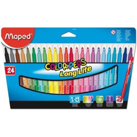 Viltpliiatsid ColorPeps 24 värvi pestav