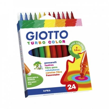Viltpliiatsid Giotto Turbo Color 24värvi