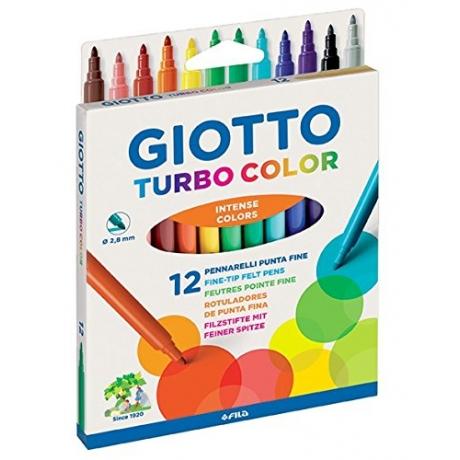 Viltpliiatsid Giotto Turbo Color 12 erksat värvi