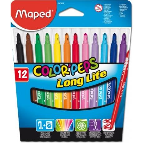 Viltpliiatsid ColorPeps LongLife  12tk mahapestavad