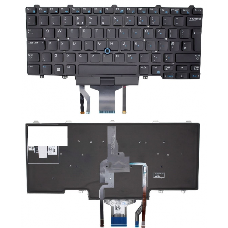 Klaviatuur Dell Latitude E7250/70 UK LED