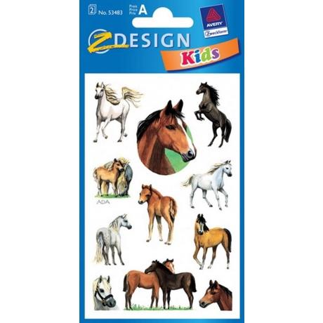 Kleeppildid Z-Design Sätendavad Hobused