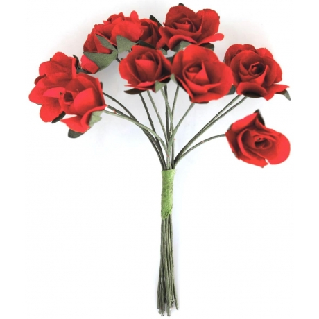 Paberlilled 12tk/pk roosid punased