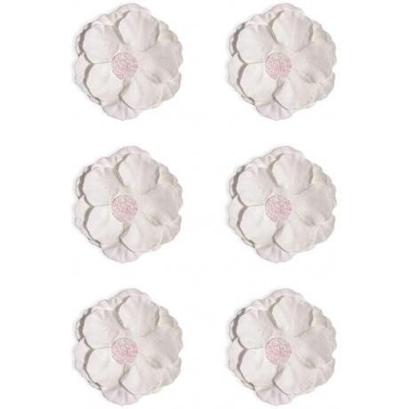 Paberlilled 6tk/pk iseliimuvad valge