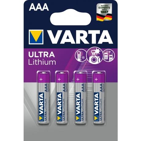 Patarei AAA Varta Pro Ultra Lithium 4tk*