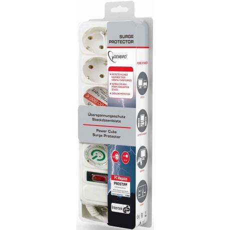 Pikendusjuhe-filter 1,8m 5p,lüliti,valge