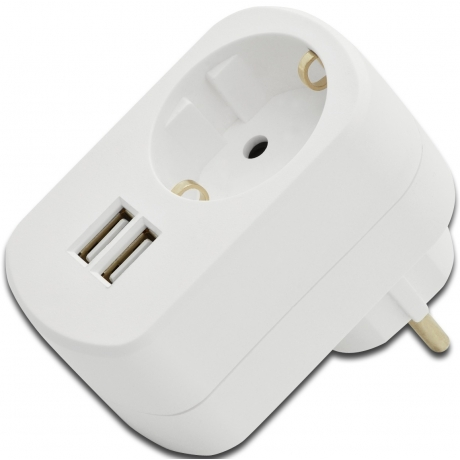 Toalaadija USB 3,1A 2xUSB + seinapesa*