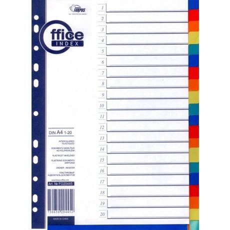 Vahelehed Forpus A4 1-20 värviline