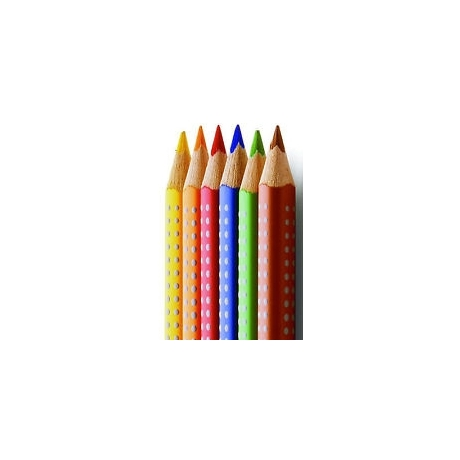 Värvipliiatsid JumboGrip 6värvi akvarel*