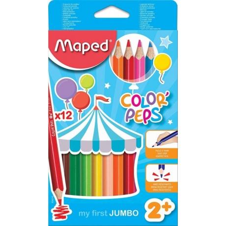 Värvipliiatsid ColorPeps Maxi12tk