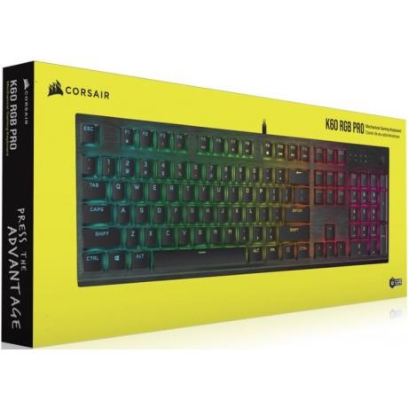 Klaviatuur Corsair K60 RGB Pro Mechanical Nord