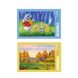 Akvarelliplokk A4/200g 15L
