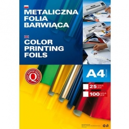 Metallized stamping foil GREEN A4 25tk