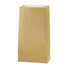Paberkott 17x6x9cm 170g 8tk sädelev kuld