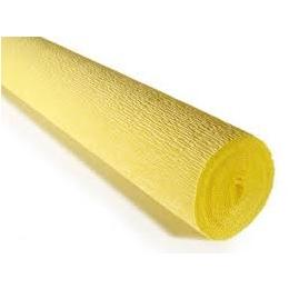 Krepp-paber 50cmx2,5m 180g helekollane