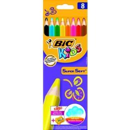 Värvipliiatsid BIC Super Soft Jumbo 8tk
