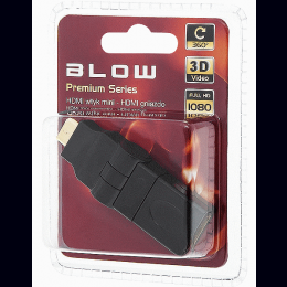 Adapter HDMI pesa-miniHDMI pistik pöörat