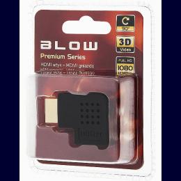 Adapter HDMI pistik HDMI pesa nurgaga