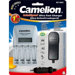 Akulaadija Camelion BC-0907 LCD, 60min