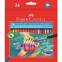 Akvarellpl.Faber-Castell Fish 24värvi*