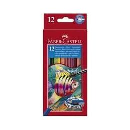 Akvarellpl.Faber-castell Fish12 värvi*
