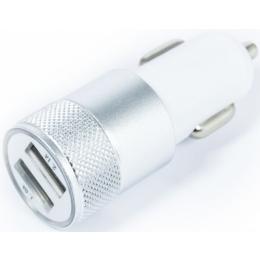 Autolaadija Small Metal 1A+2,1A Silver