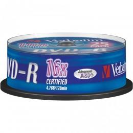 DVD-R 25 pack Verbatim AZO silver
