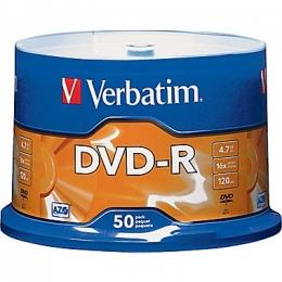 DVD-R 50 pack Verbatim AZO silver