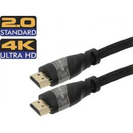 Kaabel HDMI 3m Full HD,4K,Nylon 14,9G