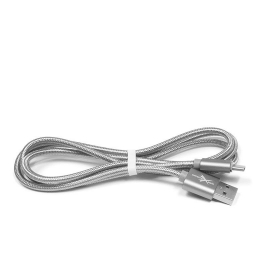 Kaabel USB-C Braided Strong Silver