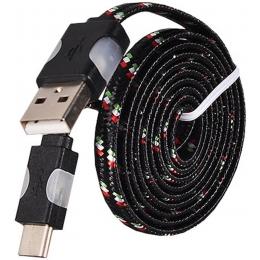 Kaabel USB-C Nylon  Black
