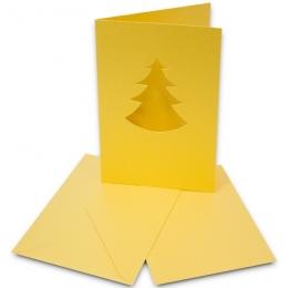 Kaarditoorik 10,8x15,5cm 5tk kuldkuusk