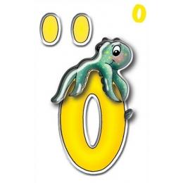 Kleeppildid 3D täht O(Ö) 95mm*
