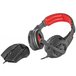 Kõrvaklapid+hiir Trust GXT784 2in1