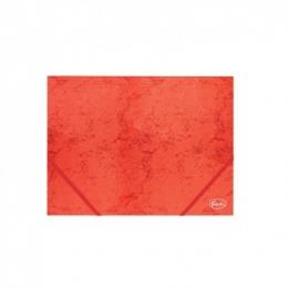 Kummiga mapp A4 4,5cm kartong punane