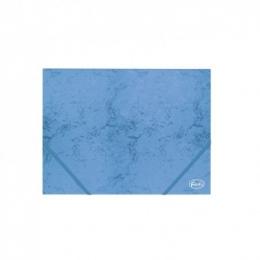 Kummiga mapp A4 4,5cm kartong sinine