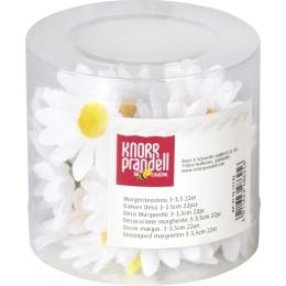 Kunstlilled valge päevalill 1,5-2cm 30tk