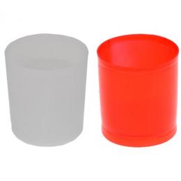 Küünlatops plast h5,d5cm 40ml white 5tk