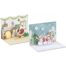 POP-UP Kaart 2tk pakis jõulud