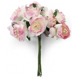 Paberlilled 10tk/pk pojengid roosad