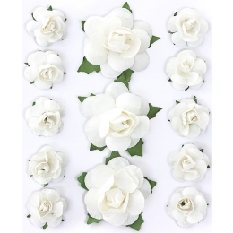 Paberlilled 13tk/pk valged roosid
