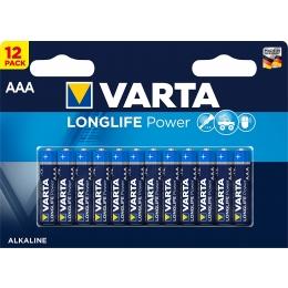 Patarei AAA LR03 Varta LongLife 12tk