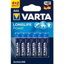 Patarei AAA LR03 Varta LongLife 6tk