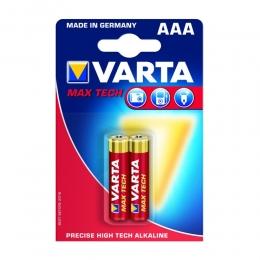 Patarei  AAA LR03 Varta MaxTech 2tk