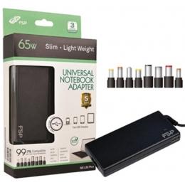 Sülearvuti laadija U65W Fortron Slim+USB