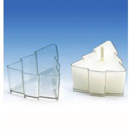 Teeküünlatops plastik+taht Kuusk 5tk