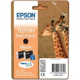 Tint Epson T0711 black H TwinPack