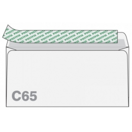 Ümbrik C65 aknata valge iseliimuv 25tk